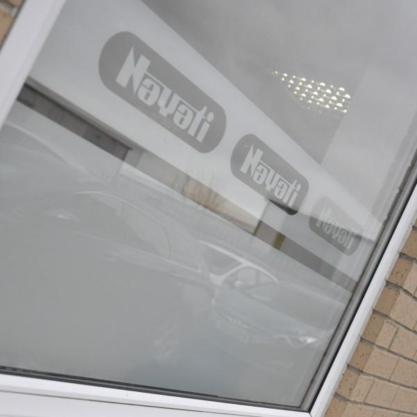 Nayati UK Distribution Centre – Window Etching